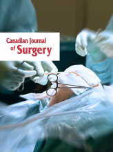 Canadian Journal of Surgery: 64 (5)
